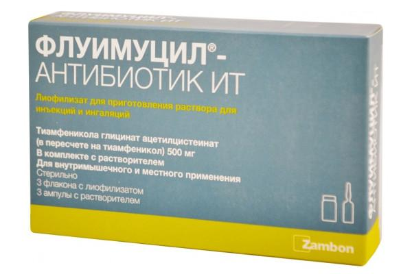 Флуимуцил антибиотик для носа как разводить