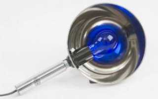 Синяя лампа для прогревания ушей и носа