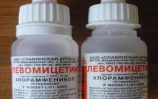 Можно ли капать в ухо Левомицетин?